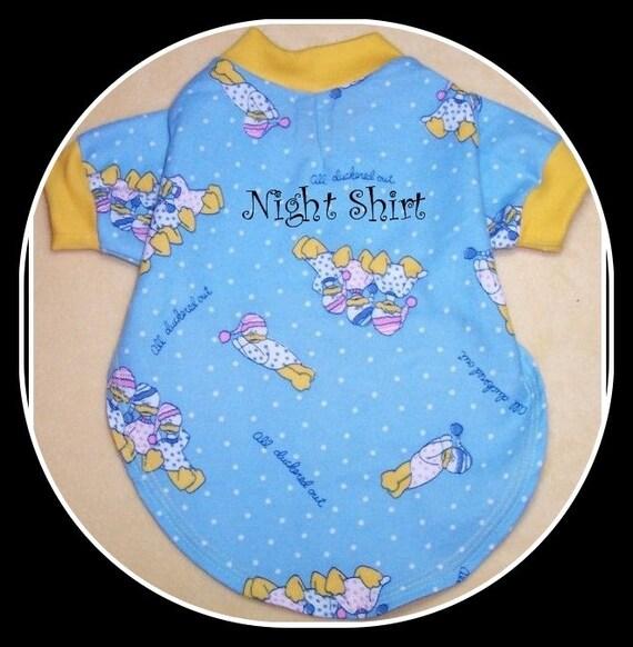 Pet Clothing NightShirt  or Ruffled Nighite To Order You Choose