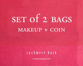 SET of 2 BAGS Makeup Coin