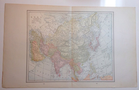 Phenomenal 1891 Asian Continent Map