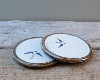 A Pair of Ceramic Swallow Coasters