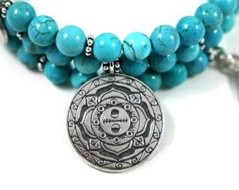 BALANCE Magnesite Healing Gemstone Mandala Bracelet