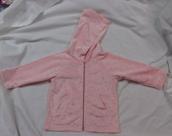 pink hooded jacket for infant - CLEARANCE