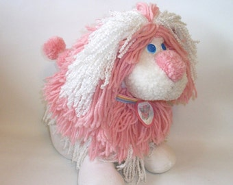 Vintage Kenner Fluppy Dog Puppy Plush Toy LARGE Pink 1980's EXCELLENT CONDITION
