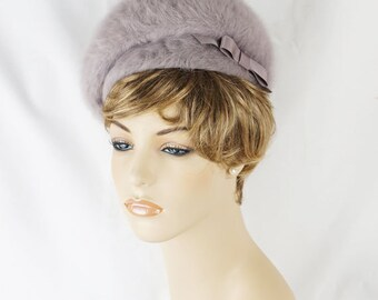Vintage Grey Kangol Bubble Crown Beret Hat Sz 21
