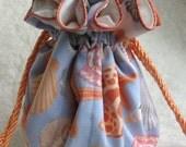 Beach Wedding Jewelry Pouch, in seashell pattern