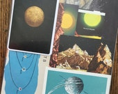 Mercury the Littlest Planet Vintage Outer Space Collage, Scrapbook and Planner Kit Number 1914