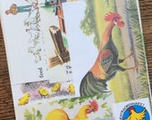 Rosters and Chickens Vintage Farm Collage, Scrapbook and Planner Kit Number 2092