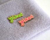 Yikes Enamel Pin Badge, Pins, Pink Brooch, Green Brooch, lapel pin, Badges, RockCakes, Brighton uk