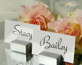 Place card holders + Silver Place Card Holders + Silver Wedding Place Card Holders (Set of 75)