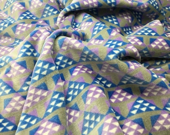 "Gray & Purple Geometric VELVET Fabric - Cotton Home Dec 56"" -By The Yard-"