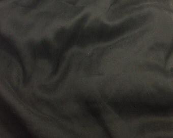 Crinkle Silk Chiffon Fabric - Black - 1 Yard