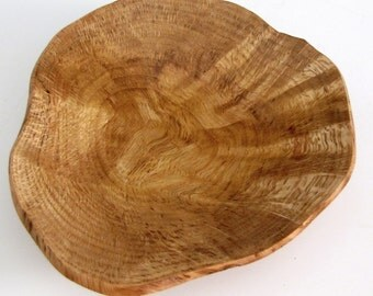 Small Natural Edge Oak Burl Wood Turned Bowl - Nut Bowl - Candy Dish - Mother's Day Gift - Housewarming Gift - Office Gift - Christmas Gift