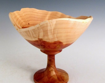 Small Artistic Natural Edge Cedar Burl Wood Turned Goblet - Men or Women - Kitchen and Gourmet - Sculptures - Wedding Gift