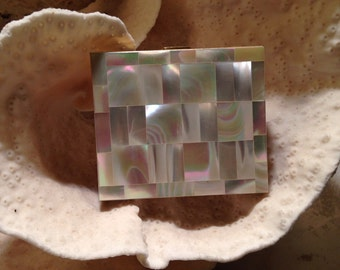 Vintage mother of pearl compact