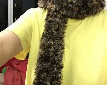 Eyelash yarn scarf