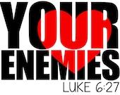 Love Your Enemies Knock Out SVG Cut File