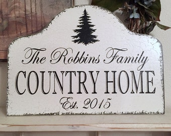 FAMILY Sign, PERSONALIZED, Family Signs, Primitive Signs, Country Home, Rustic Signs, 17 x 12
