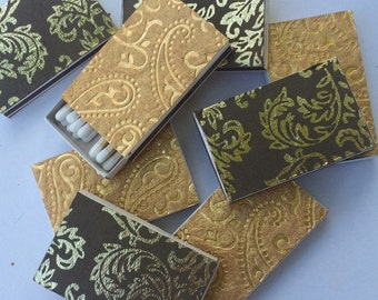 10 mix Matchbox Wedding Favors Gold Filigree Gold Baroque Antique