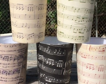 Music Notes Party Favors Candle Votive Holders Wedding Band Musician Piano Sheet