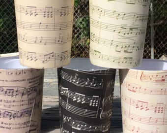 12 Music Notes Band Musician Piano Sheet Votive Candle Tea Light Holders Wedding Party Favors Table Decoration Centerpiece Decor Reception