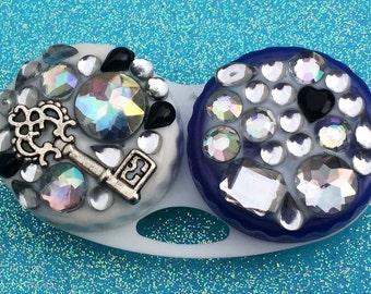 Skeleton Key Black Heart Contact Lens Case