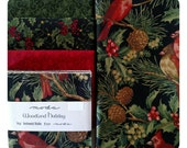 Quilt Kit - Woodland Holiday #2 - Sentimental Stitches - Moda - Backing Included - Table Quilt - Winter - Cardinals - Christmas