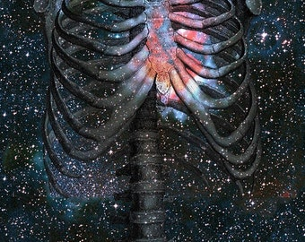 The Starbound Heart (I) - 11x14 Surreal Fantasy Cosmology Fine Art Print