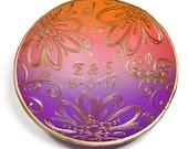 Purple-Orange Sunset Wedding Ring Dish- Jewelry Dish- polymer clay Dish- Personalized Ring Dish- Wedding Favor- Jewelry Storage