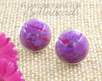 Memorial Jewelry, Pet Memorial, Cremation Jewelry, Flower Petal Jewelry, Bellabeads Earrings, Gift for Her, Amelia Earrings