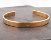 Personalized Initials Cuff - Mother's Bracelet - Bronze Bracelet