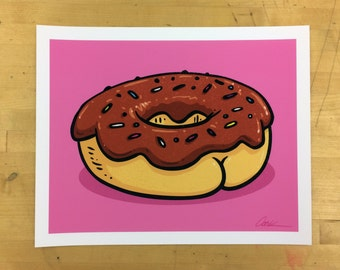 Donut with a BUTT signed print!