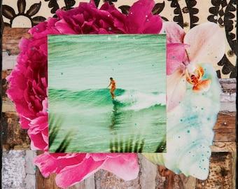 BELINDA SLIDE, Giclee, 8x8 and Up, Belinda Baggs, Surfing, Ocean, Ocean Art, Hanging Art, Wall Art, Surf Art, Belinda Baggs, Patagonia