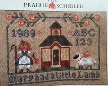 Mary Had a Little Lamb Cross Stitch Pattern The Prairie Schooler Book Sampler 1989