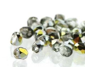 Crystal Marea 2mm True Fire Polish Czech Glass Crystal Beads 4 grams