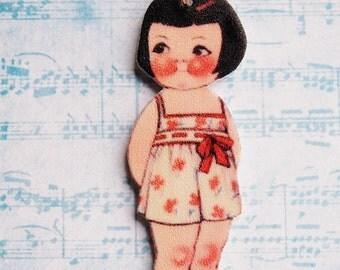 Dolly Dingle #1 Shrink Plastic Necklace