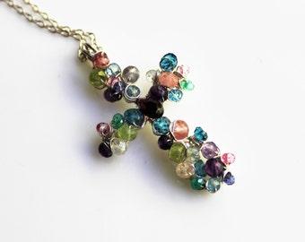 Petite Love Cross Necklace