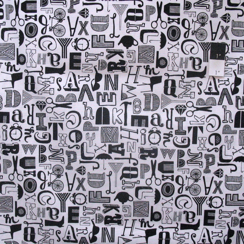 Erin Mcmorris Pwem071 Distrikt Babble White Cotton Fabric By