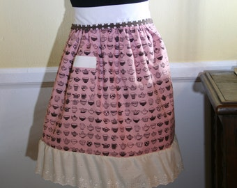 Flirty Girl Apron - Tea Cups