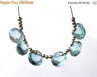 55% OFF SALE 3 Matched Pair/6 Pieces of AAA Sky Blue Topaz Faceted Onion Briolettes Size 8mm approx