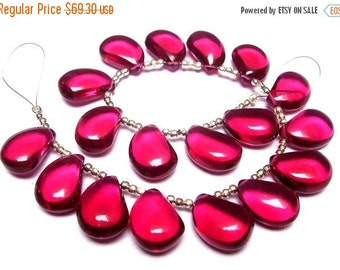 55% OFF SALE Wholesale - Super Finest AAA Rubelite Hot Pink Quartz Smooth Polished Mango Shaped Fancy Briolettes Size 16x11mm approx, Half S