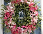Boxwood wreath, Eucalyptus Wreath, Spring Wreath, Summer wreath, Valentine wreath, Mother's Day, Luxury Wreath, Door Wreath, Petal Pusher's