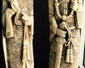 Vintage Pair of Asian Statues