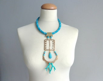 long turquoise gold coral necklace rope long statement necklace