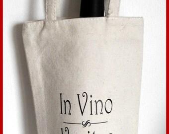 In Vino Veritas wine tote bag