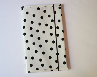 OUTLET black dot cover for moleskine cahier notebook large size