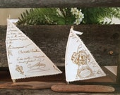 Custom Made French Script Sailboat for Deb