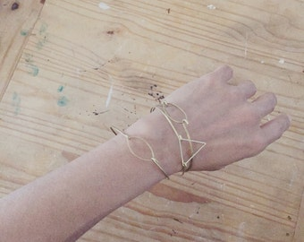 Simple Shapes Bangle Bracelet Set