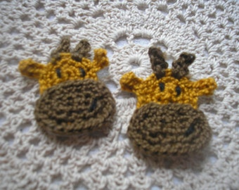 Crochet Giraffe Appliques Set of two