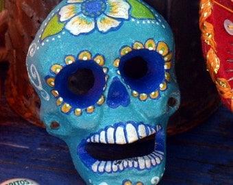Sugar Skull Bottle opener cast iron hand painted by southern artist Sherry Westfall Matthews