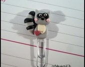 Mini Planner Clip Raccoon Polymer Clay Page Marker Journal Accessory